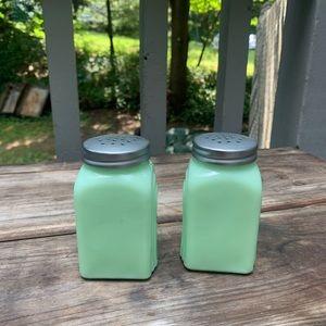 Vintage Dining - SOLD VINTAGE JADEITE Salt and Pepper Shakers